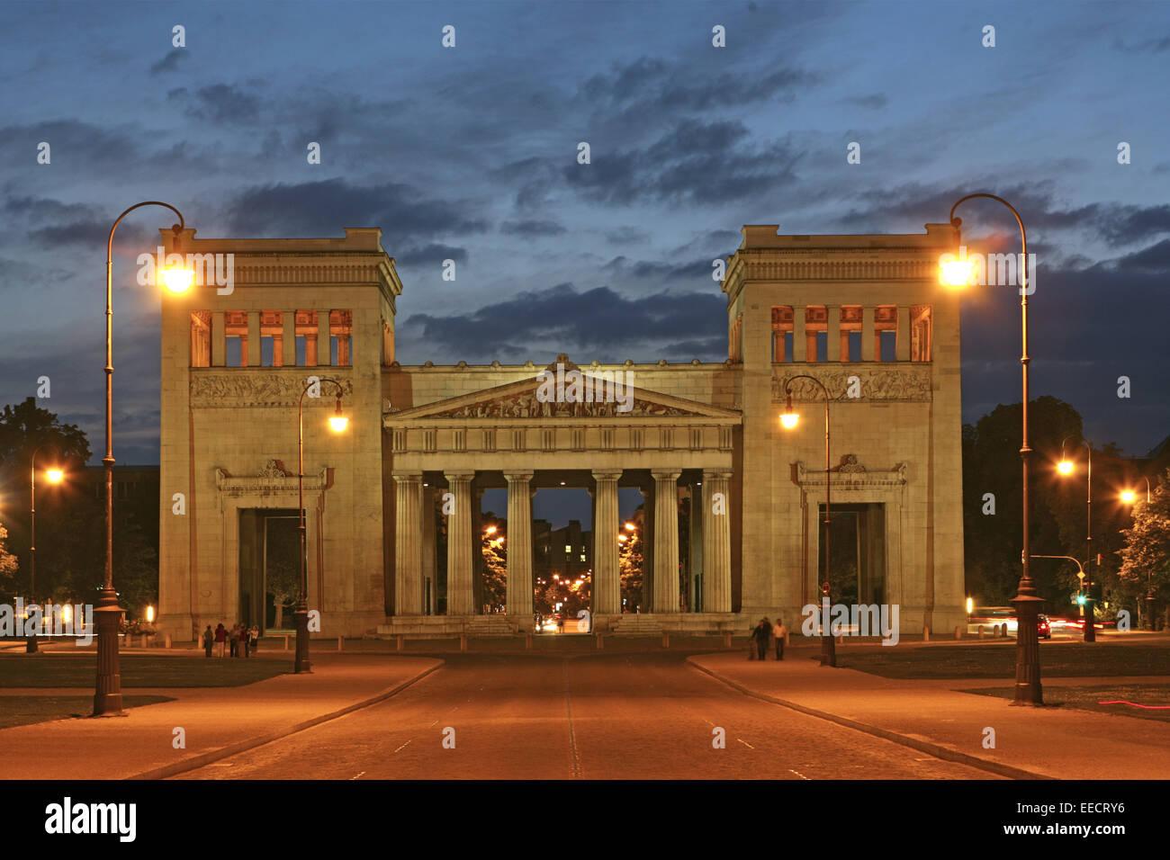 Architektur, Aussenaufnahme, Bauwerk, Bauwerke, Bayern, Deutschland, Gebaeude, Gebäude, Propylaeen, Propyläen - Stock Image