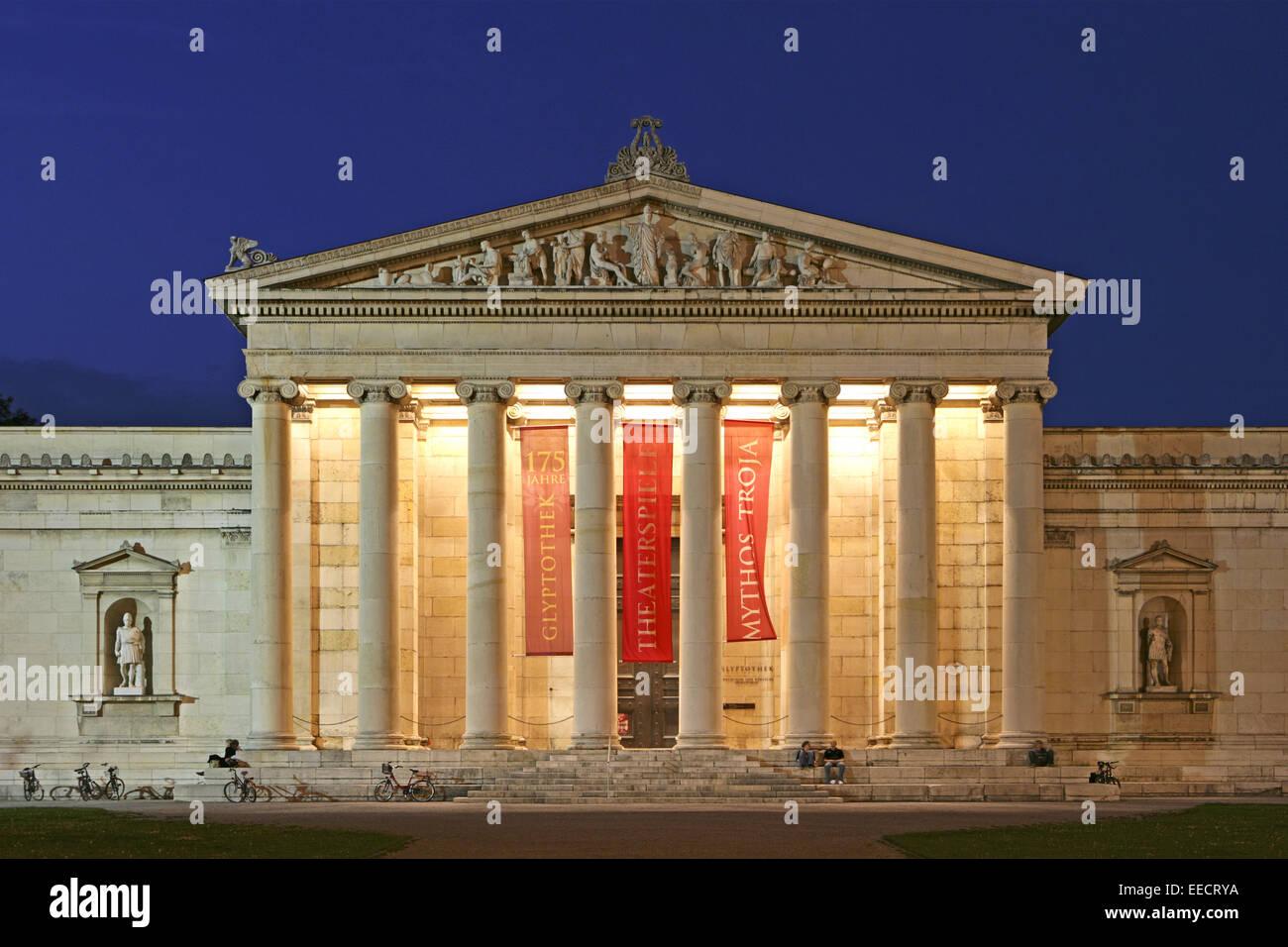 Architektur, Aussenaufnahme, Bauwerk, Bauwerke, Bayern, Deutschland, Gebaeude, Gebäude, Glyptothek, Haeuser, - Stock Image
