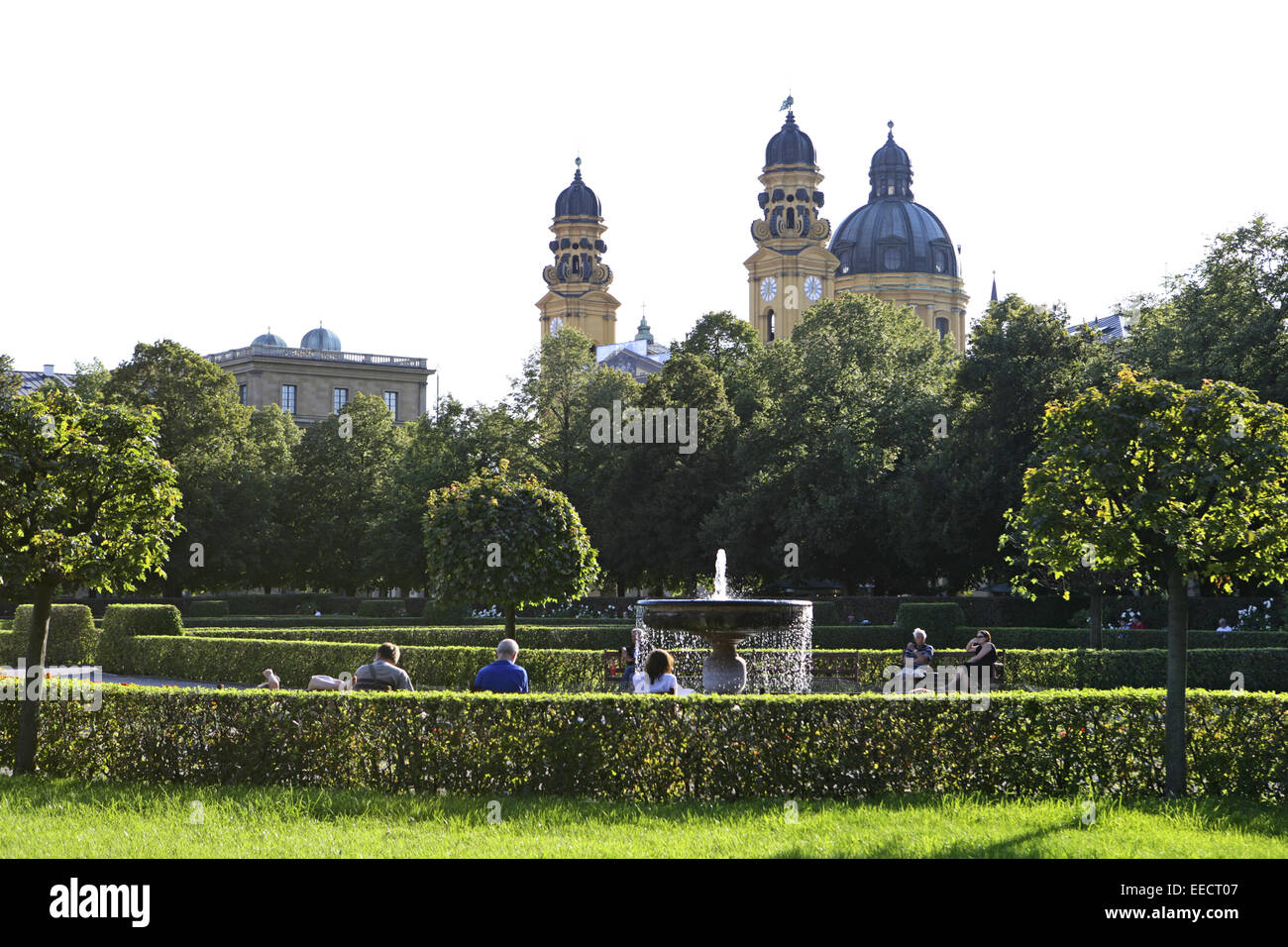 Architektur, Bauwerk, Bauwerke, Geschichte, Hofgarten, Landeshauptstadt, Oberbayern, Park, Parkanlage, Parkanlagen, - Stock Image