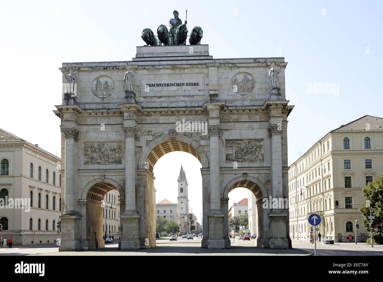 Architektur, Bauwerk, Bauwerke, Bayern, Boegen, Bogen, Bögen, Deutschland, Gebaeude, Gebäude, Muenchen, - Stock Image