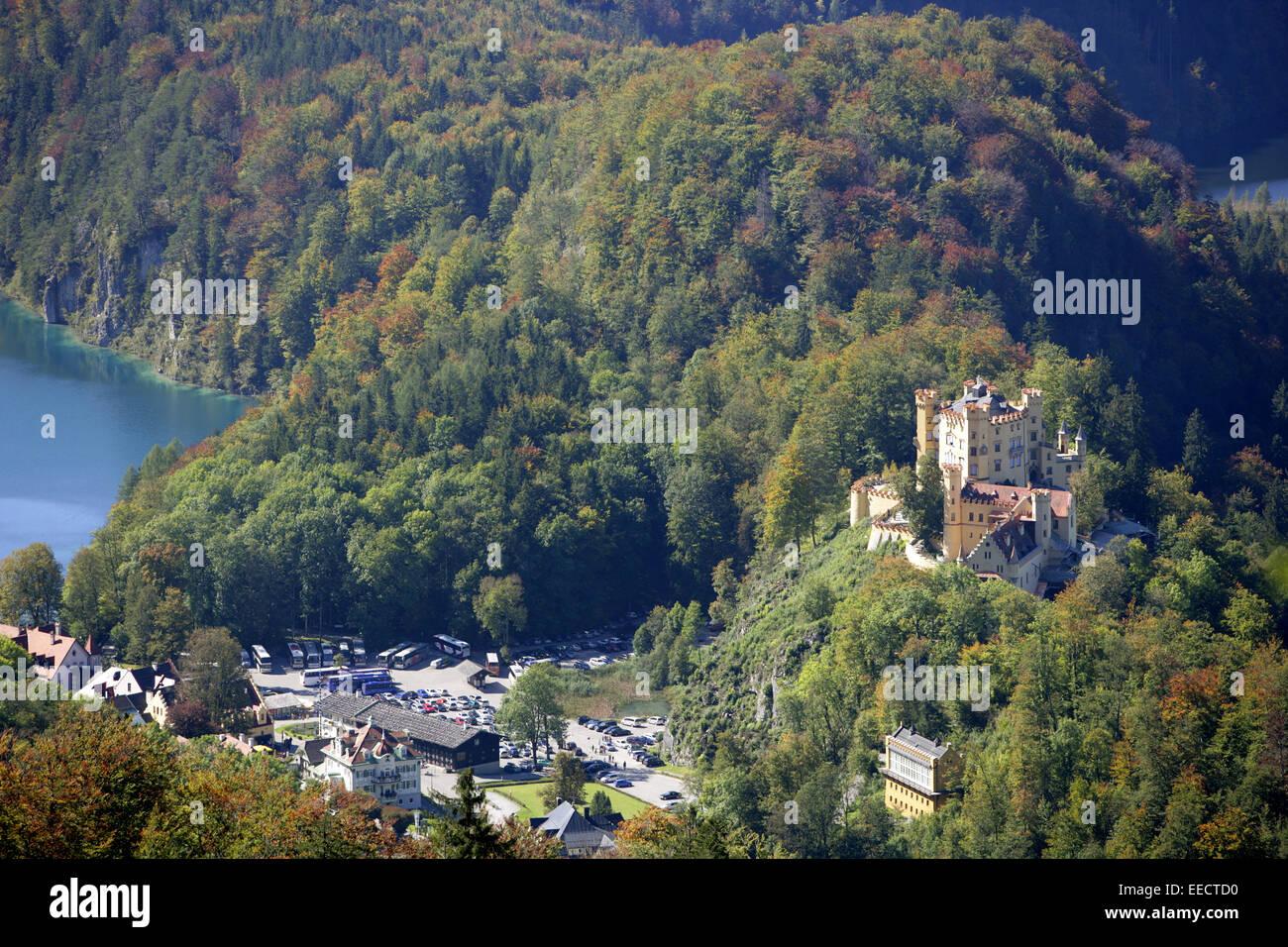 Alpenregion, Architektur, Attraktion, Ausblick, Ausflugsziel, Bauwerk, Europa, Geschichte, Reiseziel, Schloss, Sehenswuerdigkeit - Stock Image