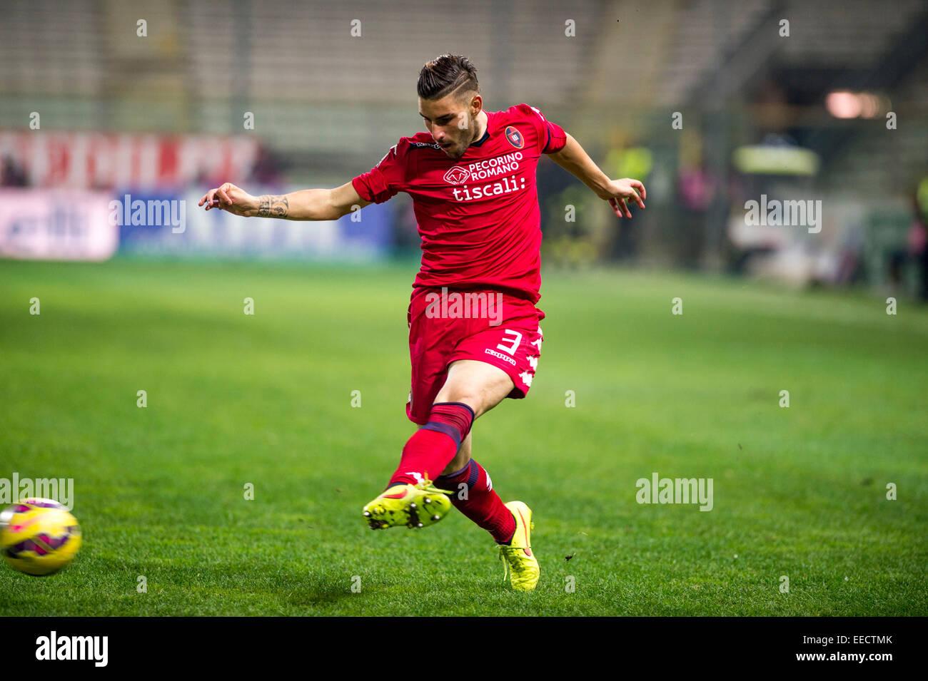 Parma, Italy. 14th Jan, 2015. Nicola Murru (Cagliari) Football/Soccer : Coppa Italia (TIM Cup) 5th Round match between Stock Photo