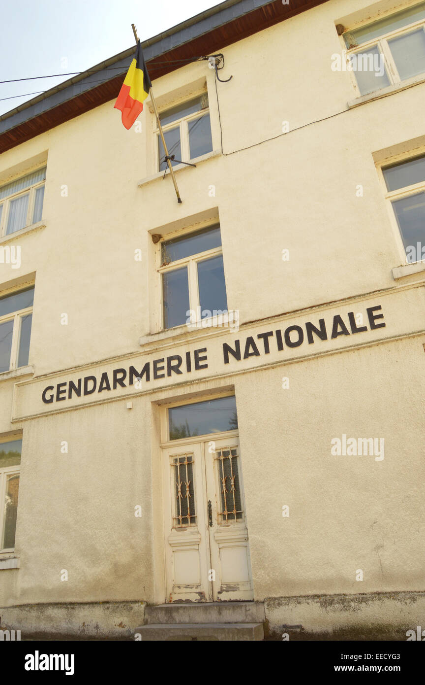 Building of the Gendarmerie Nationale, the former paramilitary police force of Belgium - Stock Image