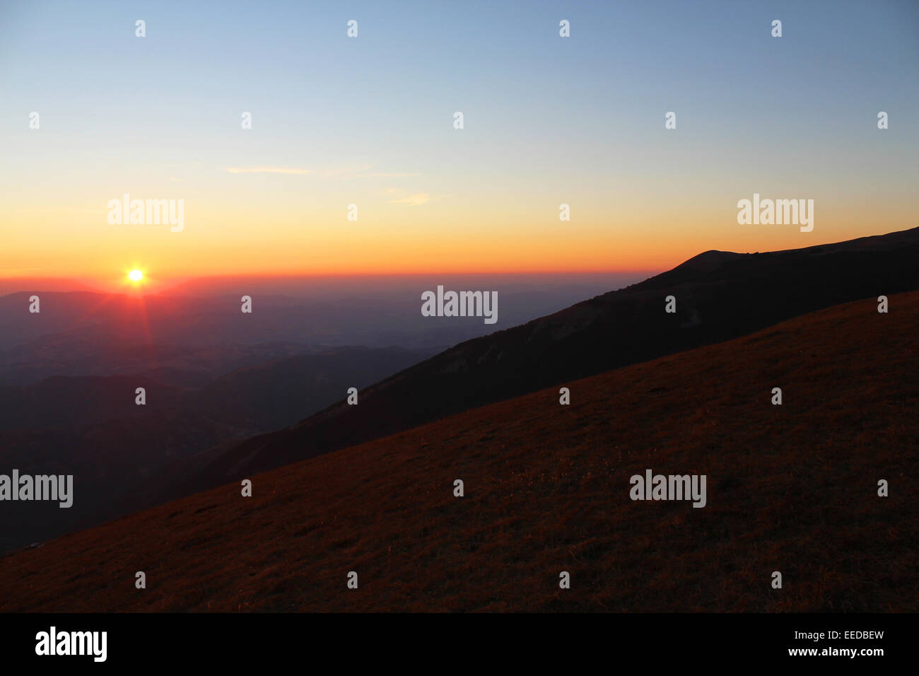 Zen-like for meditating in the mountain - Stock Image