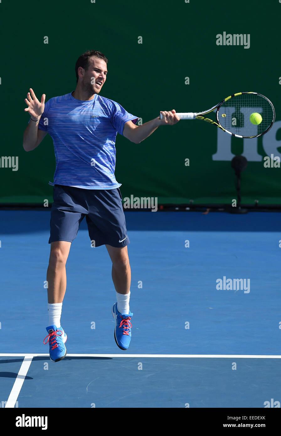 Auckland New Zealand 16th Jan 2015 Heineken Tennis Open