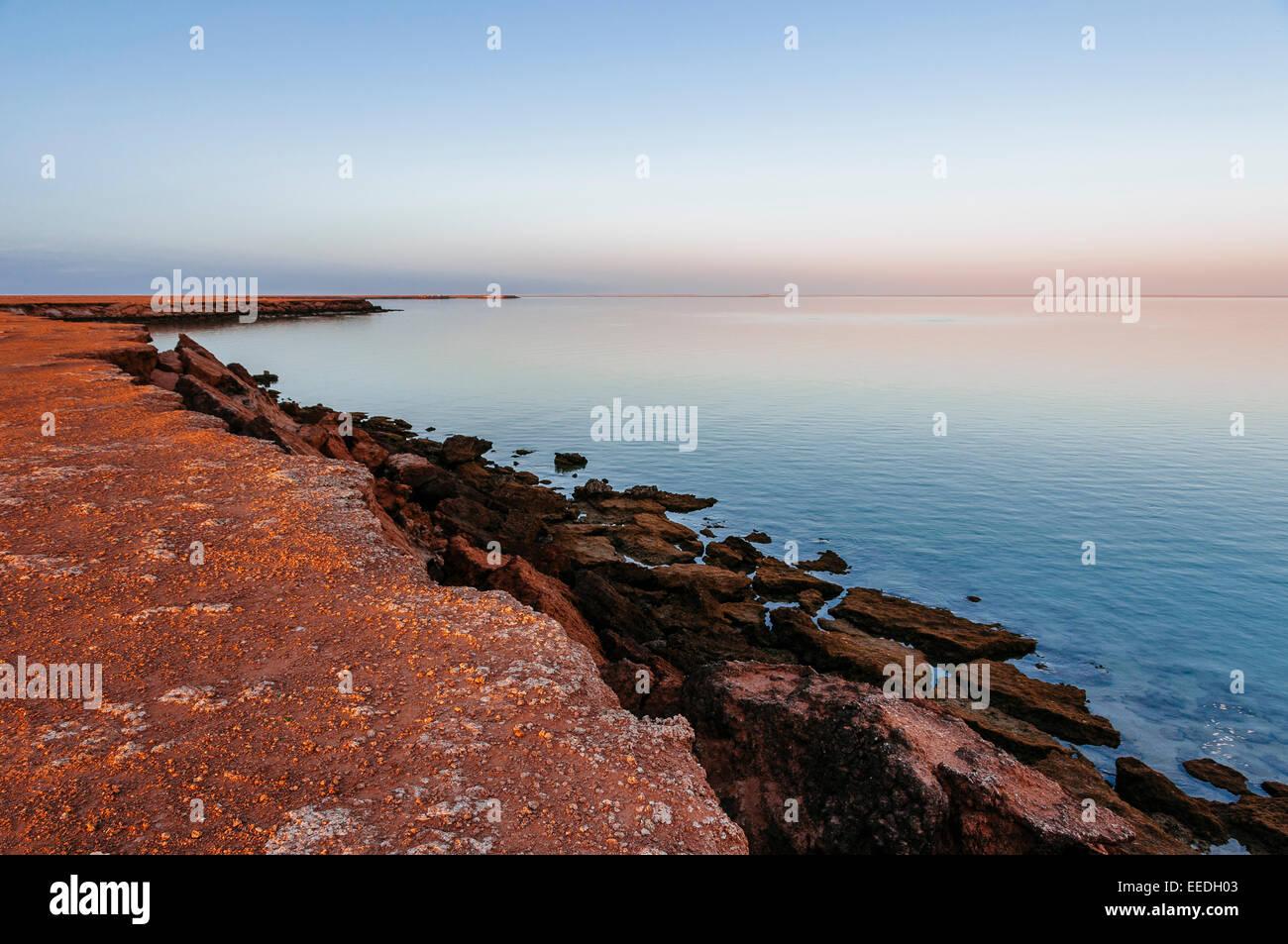 Cliffs, Dakhla, Western Sahara, Morocco. Stock Photo
