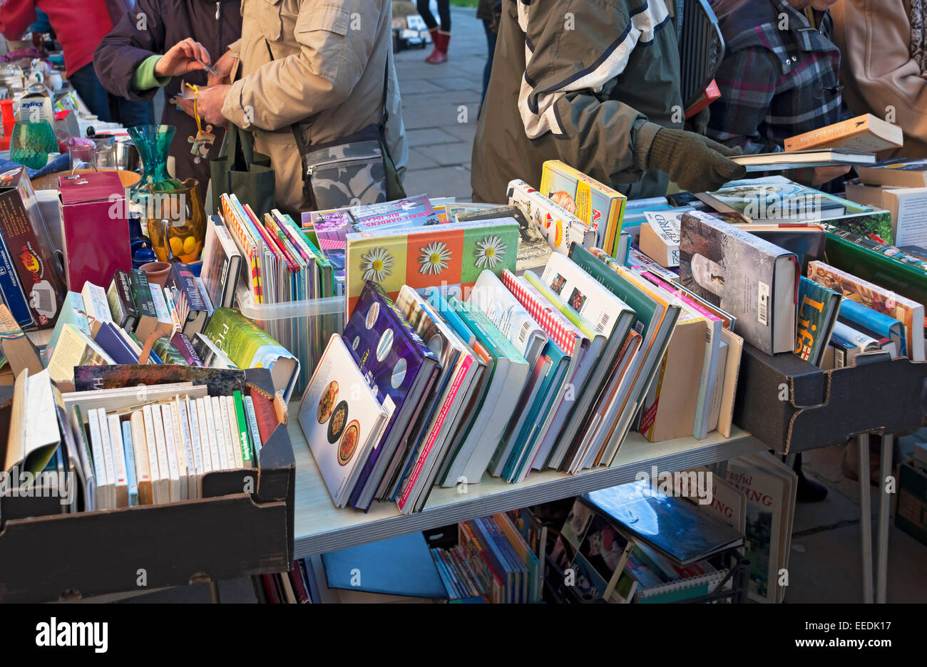 Secondhand books for sale York North Yorkshire England UK United Kingdom GB Great Britain - Stock Image