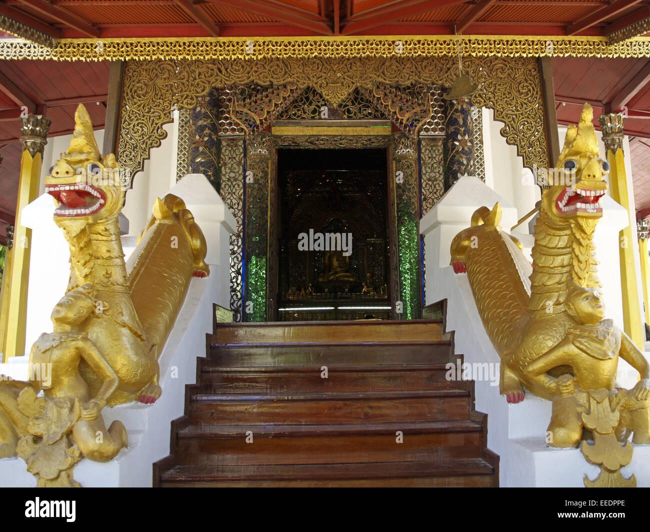 Thailand, Asien, Suedostasien, Tempelanlage, Sehenswuerdigkeit, Tourismus, Glaube, Religion, Buddha, Buddhismus, - Stock Image