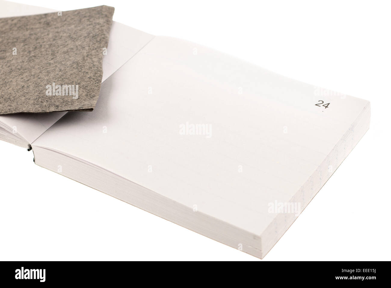 White tear out pages book with black carbon paper - Stock Image