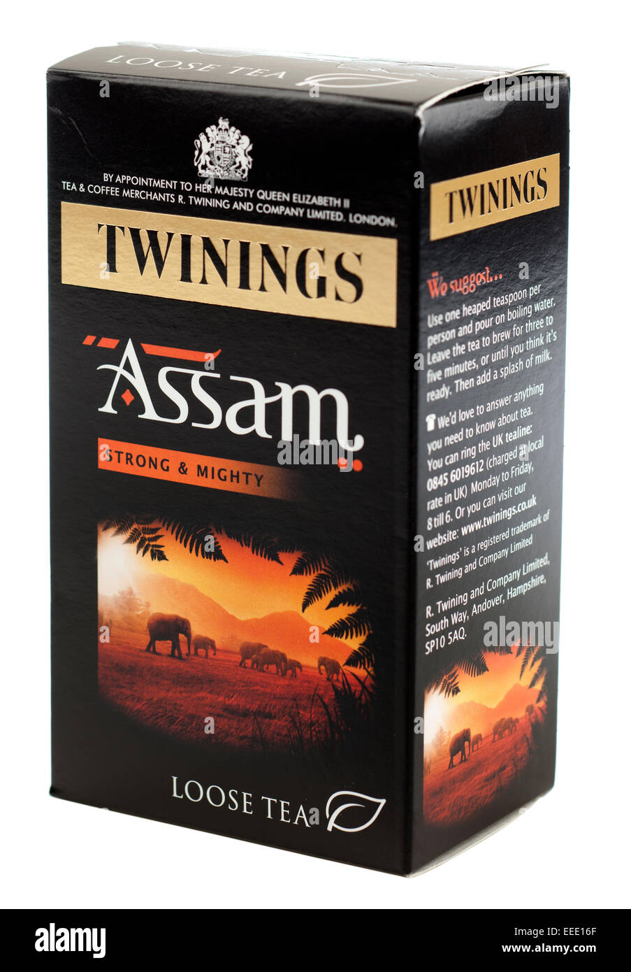 Box of Twinings Assam loose leaf tea - Stock Image
