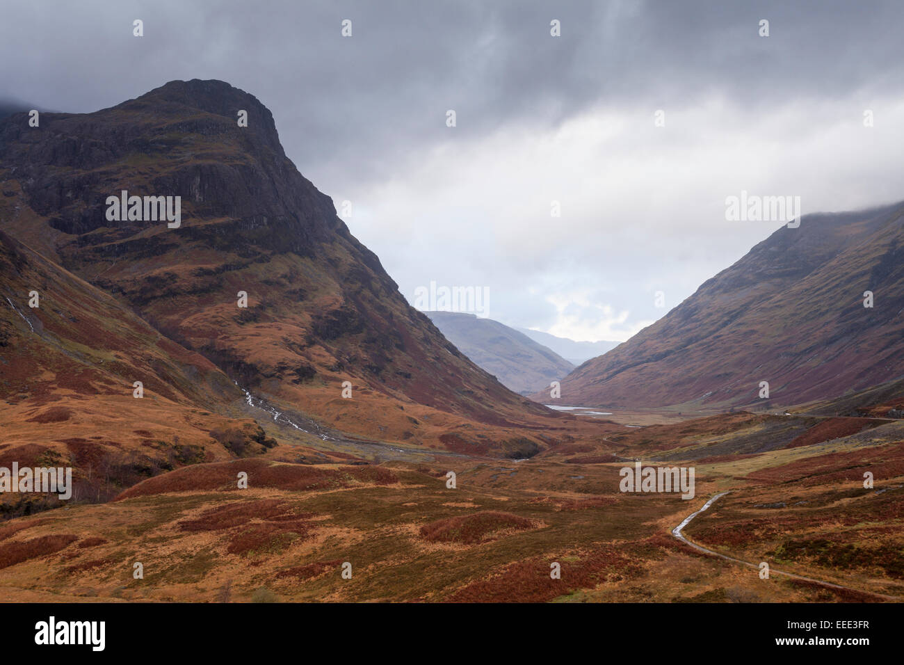 The Pass of Glencoe in the Scottish Highlands, UK. - Stock Image