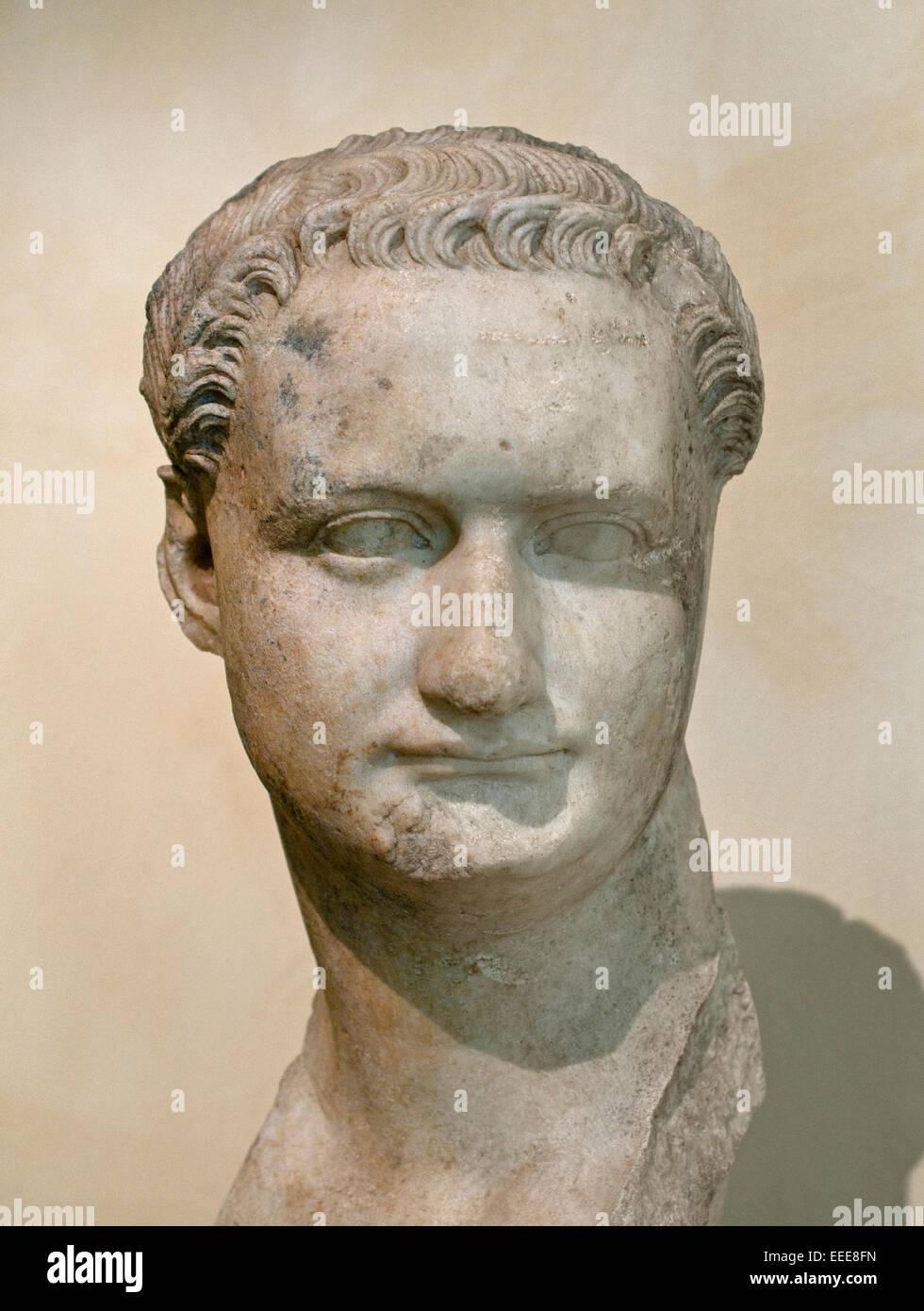 Domitian 81 AD  ( Titus Flavius Caesar Domitianus Augustus 51 – 96) Roman emperor  Rome Capitoline Museum Italy Stock Photo