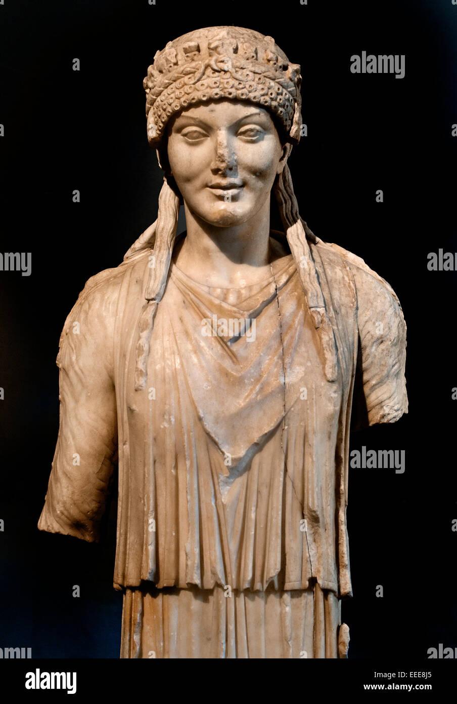 Caryatid Greek Greece from the Gardens of Maecenas. Roman Rome Capitoline Museum Italy Italian - Stock Image