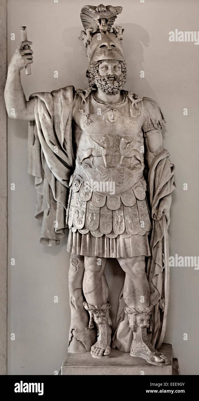 "Colossal statue of Mars: ""Pyrrhus"" End of 1rst century AD Marble cm 360 Roman Roman Italy Capitoline Museum - Stock Image"