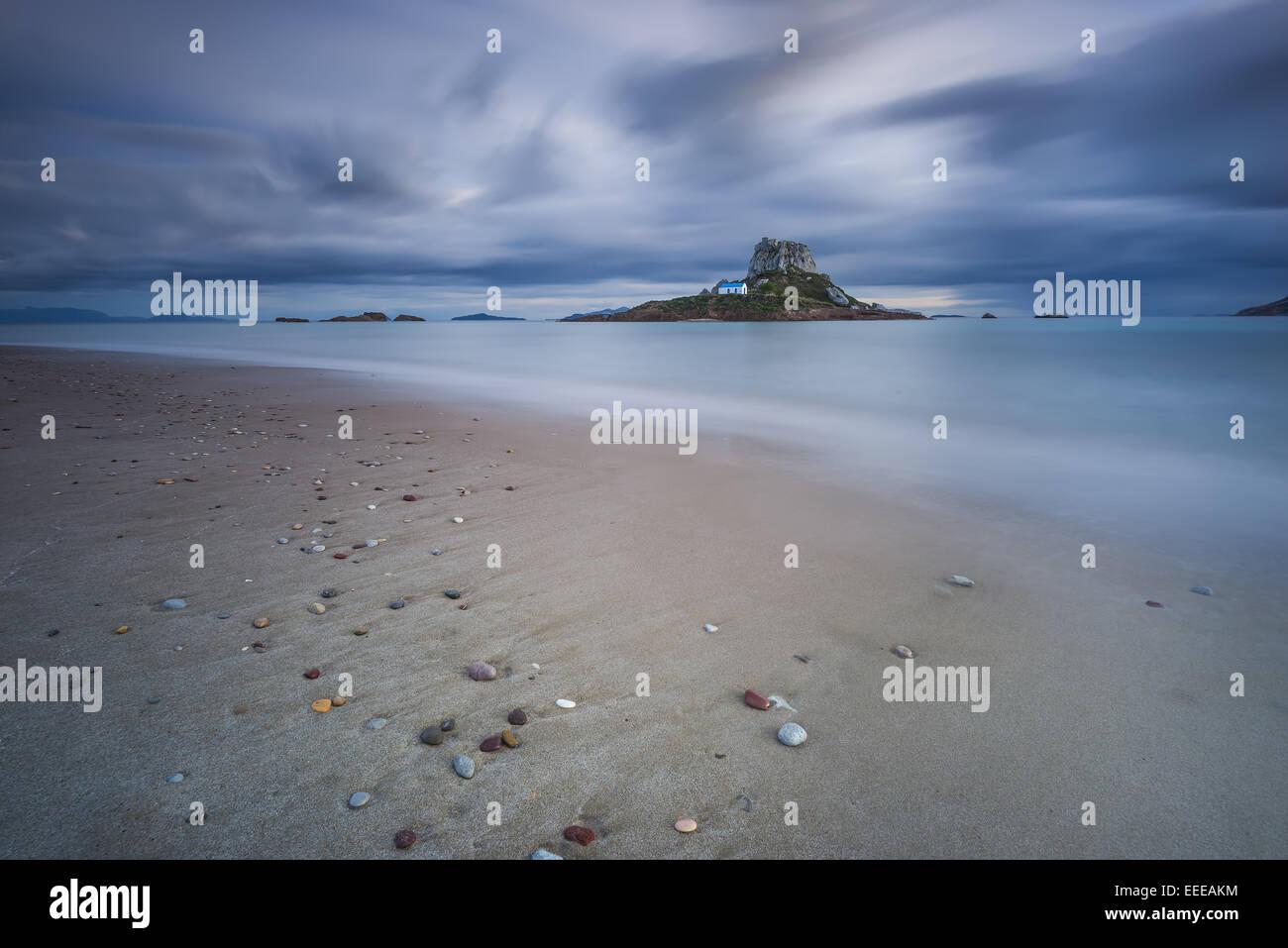 Kastri island in Kos Greece - Stock Image