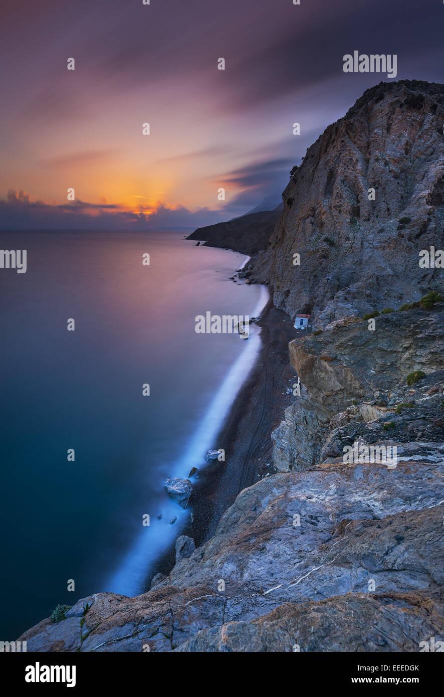 Therma beach in Kos island Greece - Stock Image