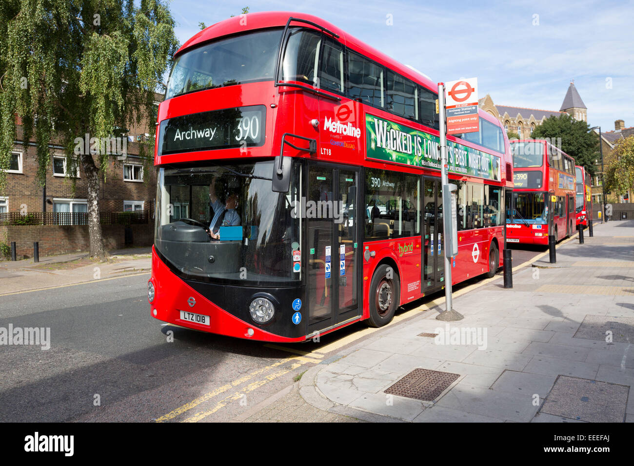 London New Routemaster bus - Stock Image