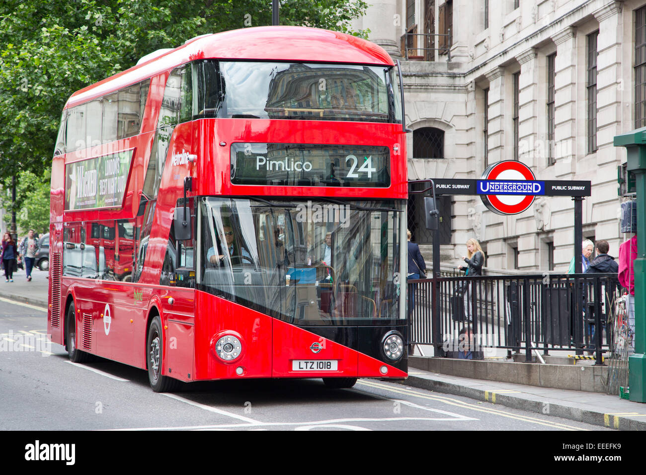 new bus for london on route 24 stock photo 77766285 alamy. Black Bedroom Furniture Sets. Home Design Ideas