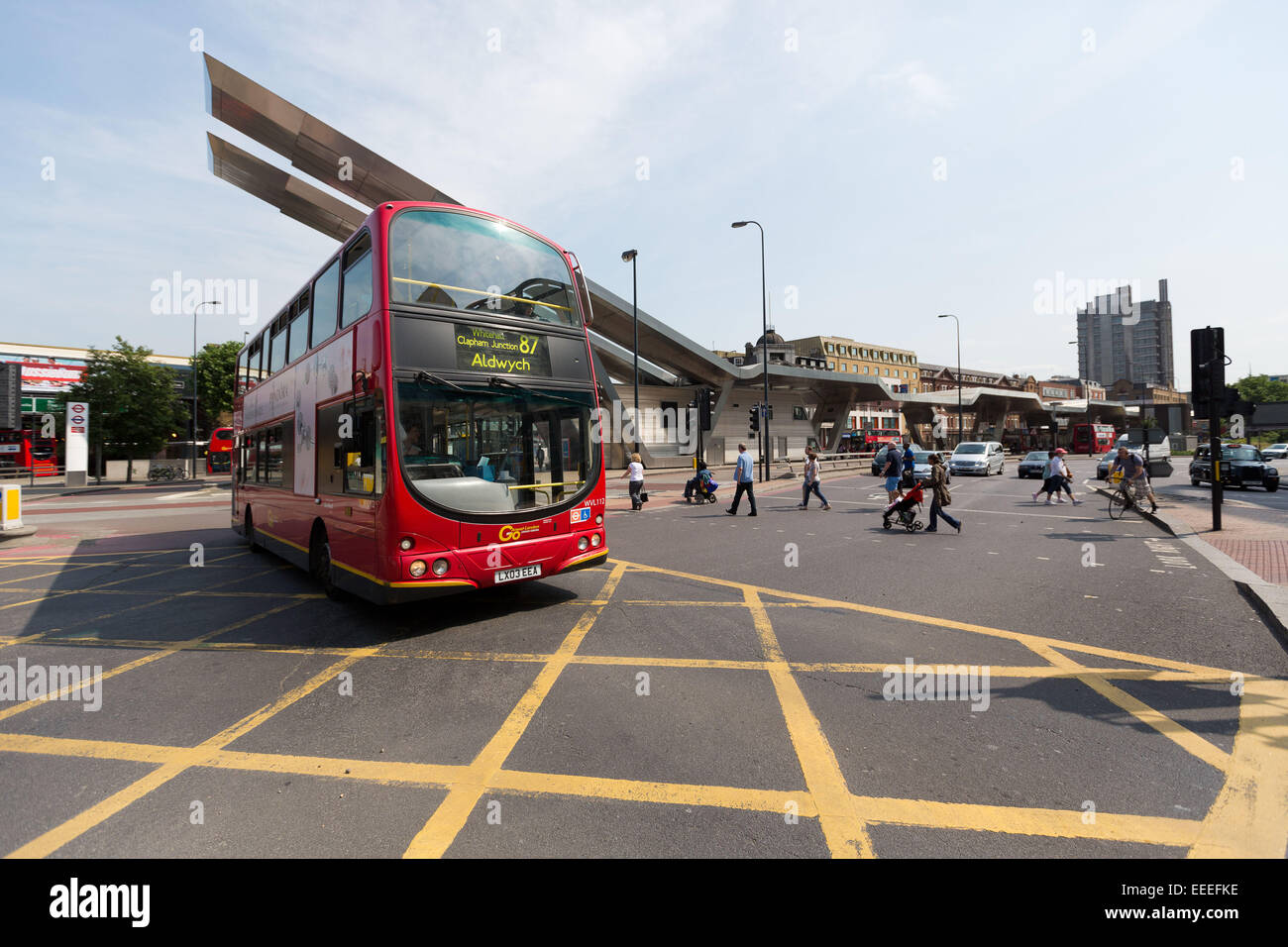 Buses at Vauxhall Cross - Stock Image