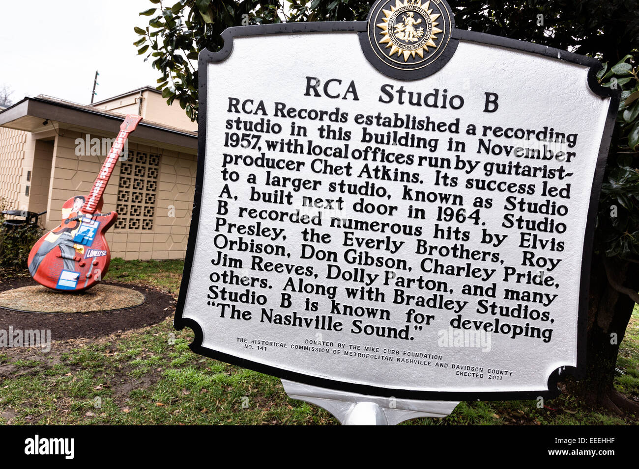 RCA Studio B legendary recording studio in Nashville, TN Stock ...