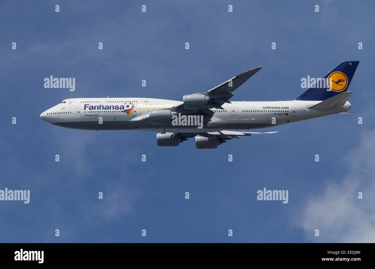 Berlin, Germany, Boeing 747-800 Lufthansa - Stock Image