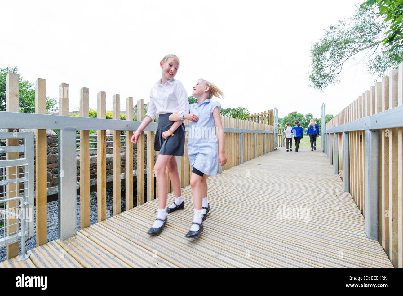 Kids at play in school - Stock Image