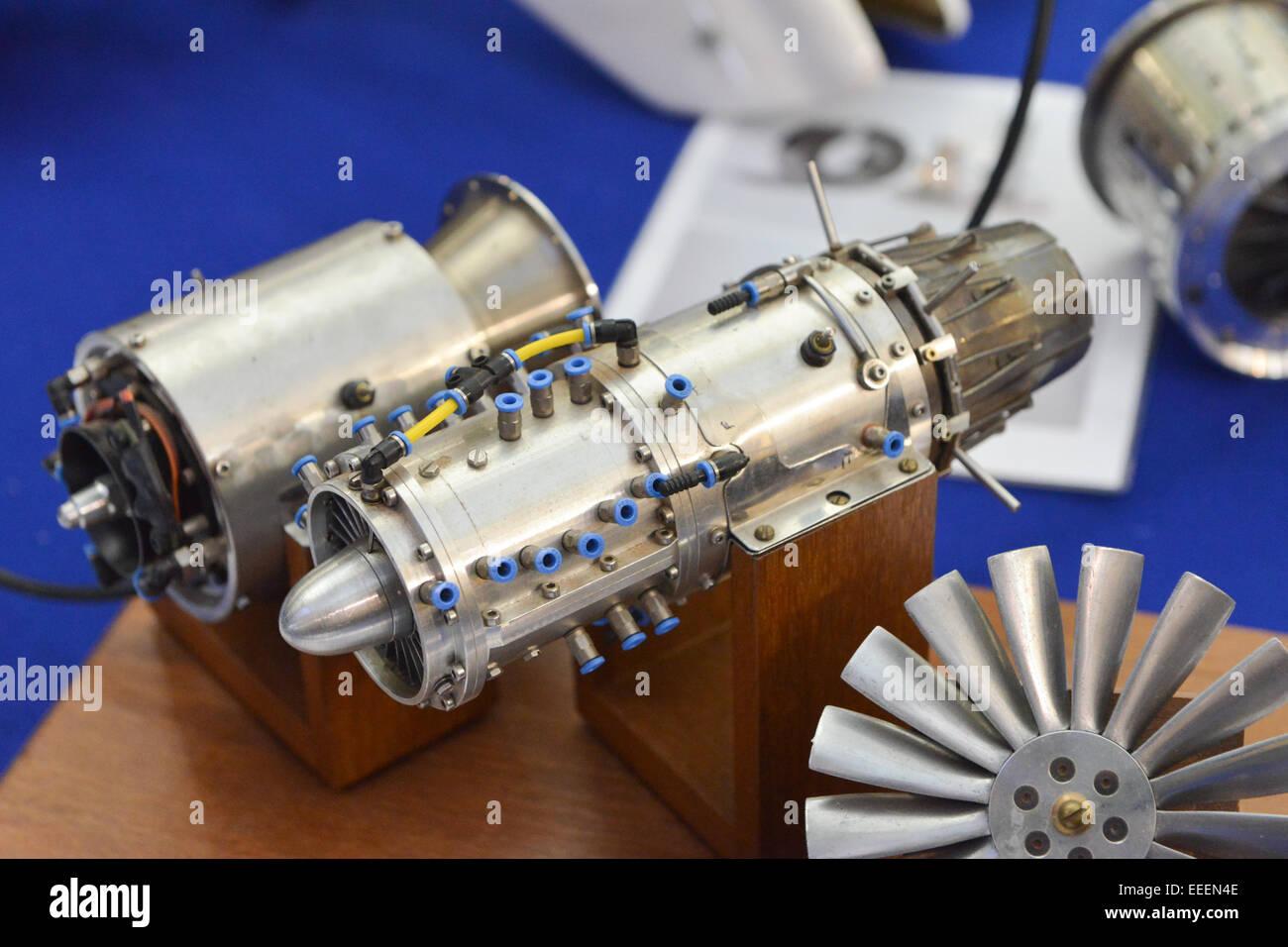 Alexandra Palace, London, UK  16th January 2015  Jet engines