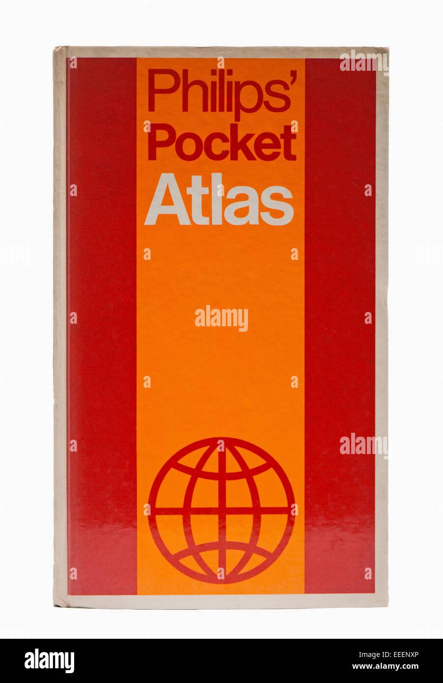 Philips' Pocket Atlas 1977 - Stock Image