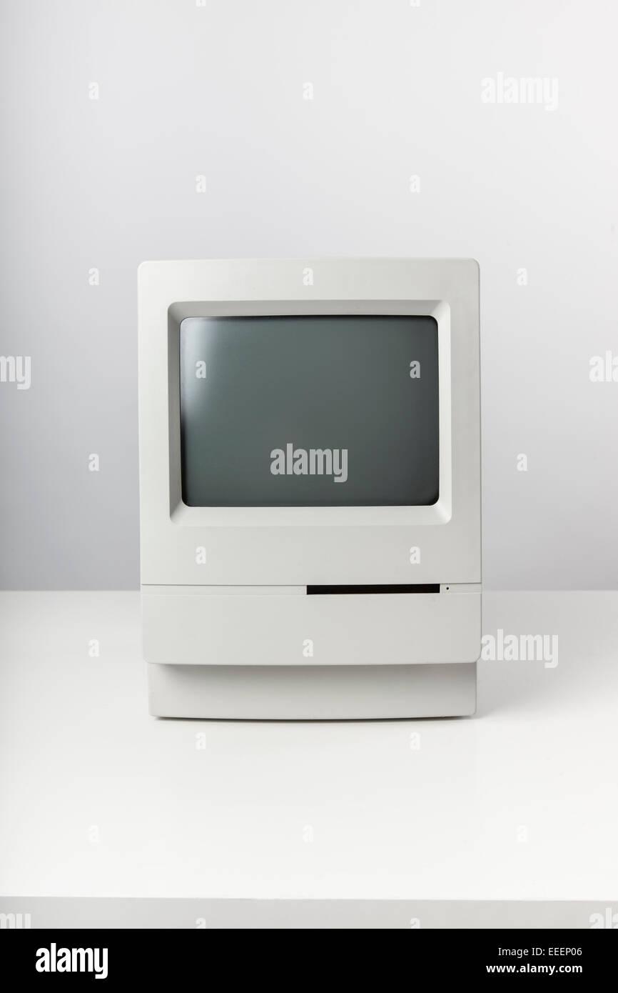 Still life with a vintage desktop computer - Stock Image