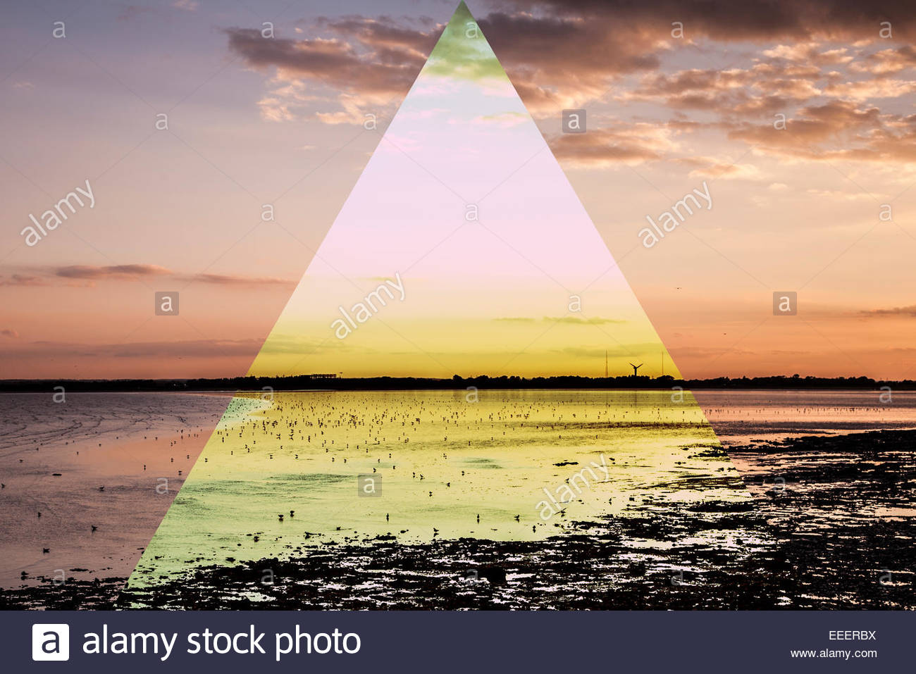 Ramsgate Coast Landscape with graphic - Stock Image