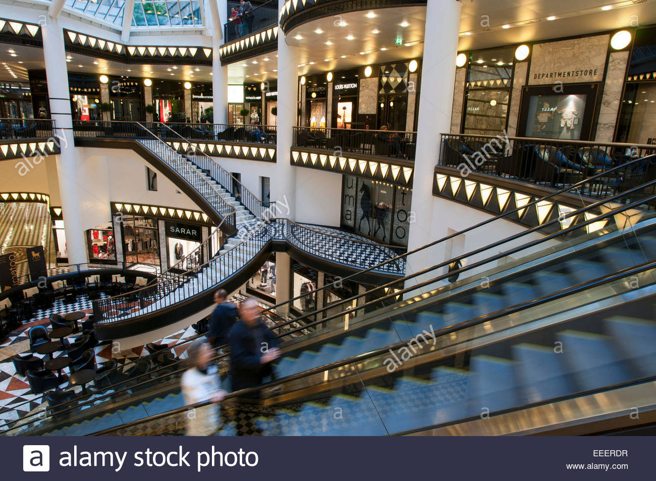 Quartier 205, luxury shopping mall in Berlin. Friedrichstrasse is one of the most legendary streets in the whole - Stock Image