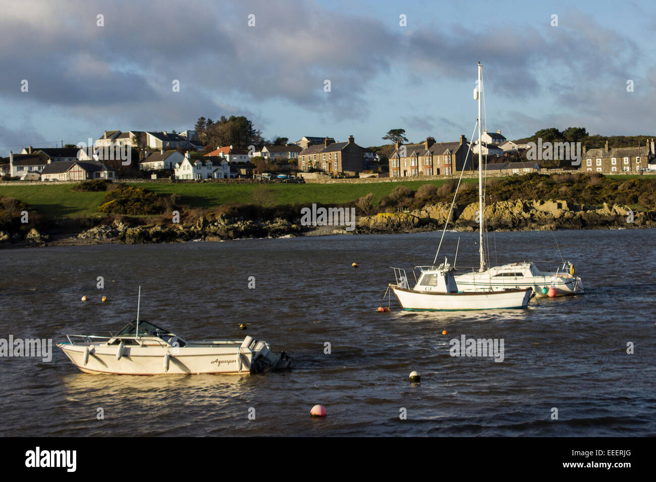 A small local harbour in Dumfries and Galloway - Stock Image