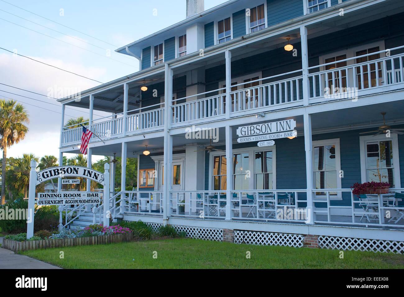 Gibson Inn, Apalachicola, Florida - Stock Image
