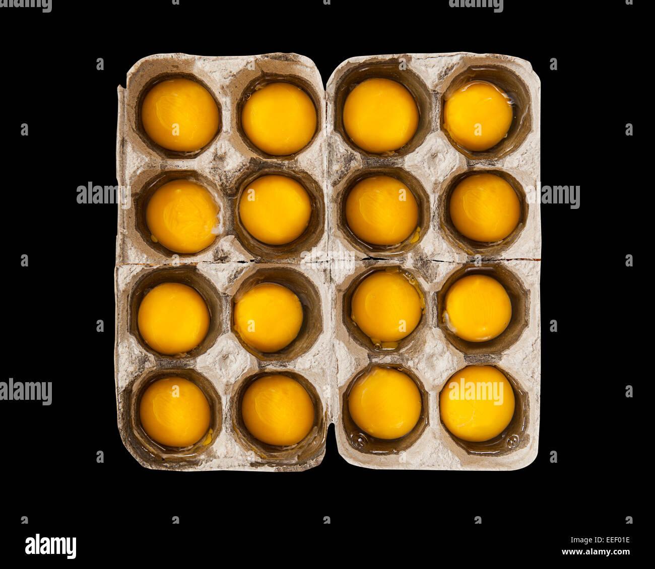 Yolk,yolks,yoke,egg,eggs - Stock Image