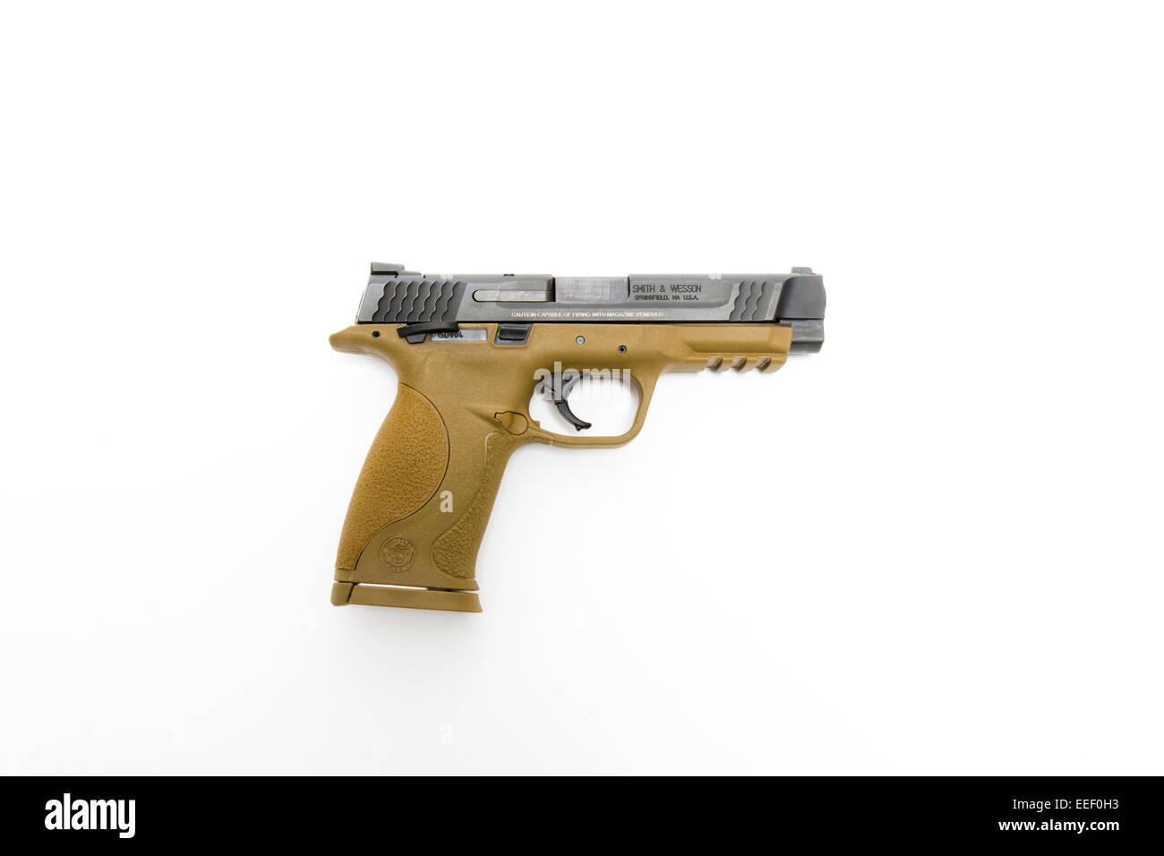 smith wesson m p 45 semi automatic pistol stock photo 77776415