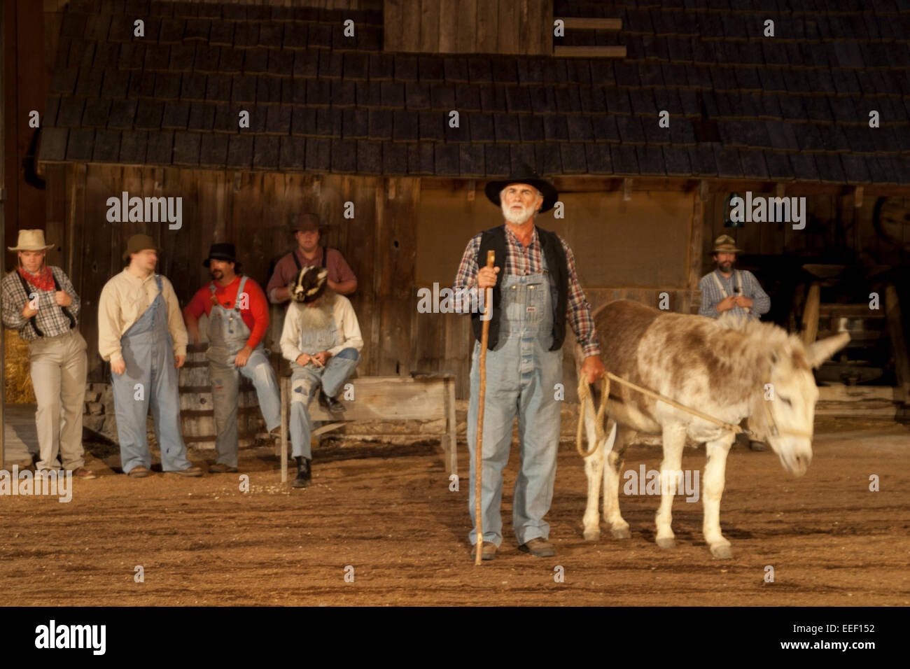 Branson's number one family show has for decades been the Shepherd of the Hills outdoor theater, Missouri, USA - Stock Image