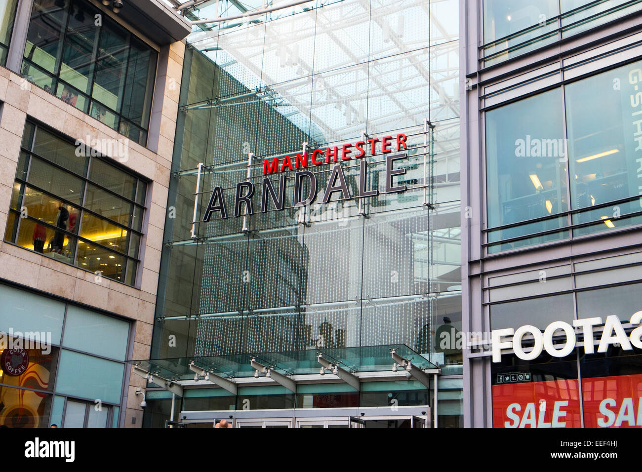manchester arndale shopping centre in the city centre,manchester,england - Stock Image