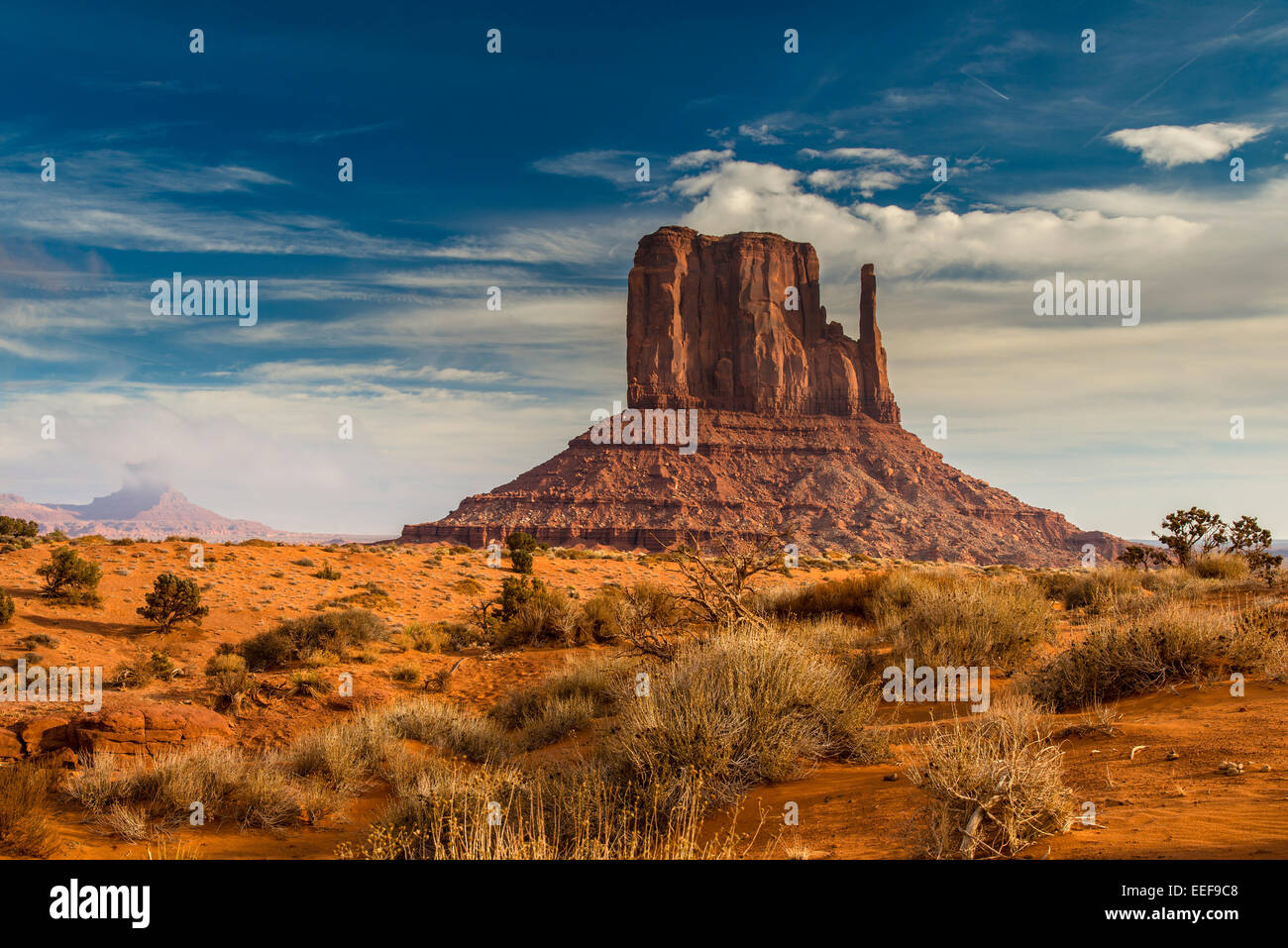 West Mitten Butte, Monument Valley Navajo Tribal Park, Arizona, USA - Stock Image