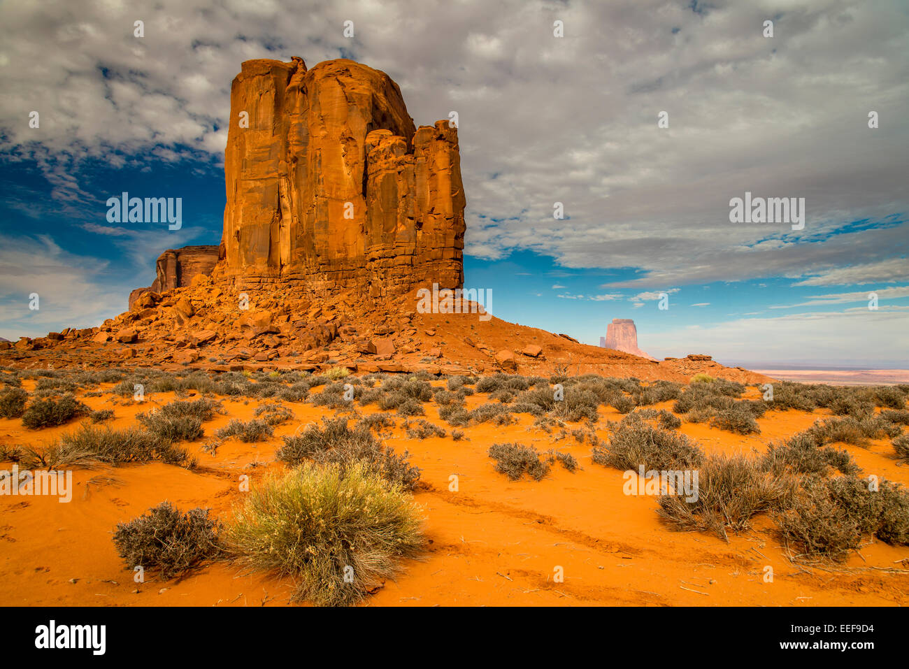 East Mitten Butte, Monument Valley Navajo Tribal Park, Arizona, USA - Stock Image