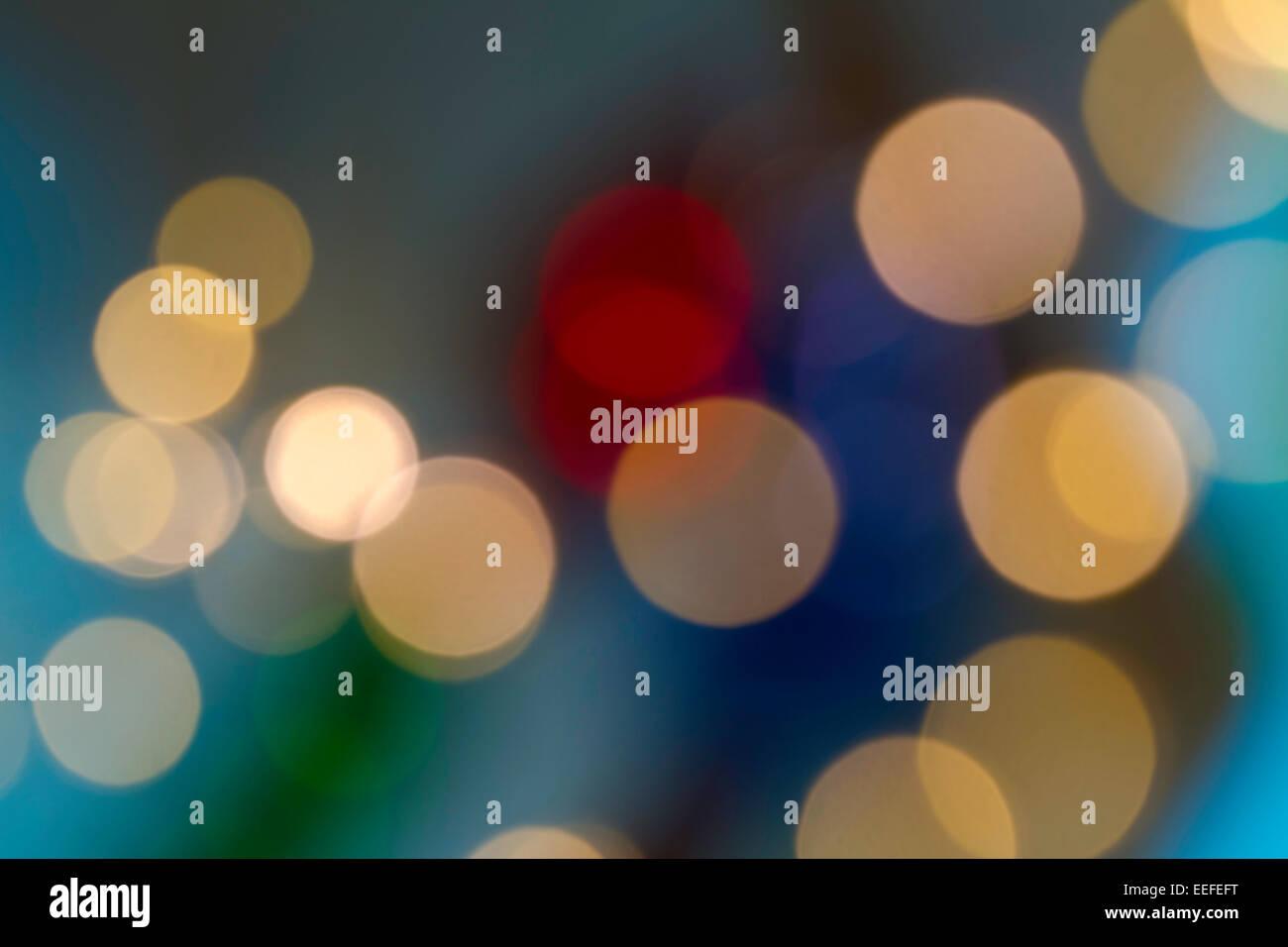 light circles of bokeh - Stock Image