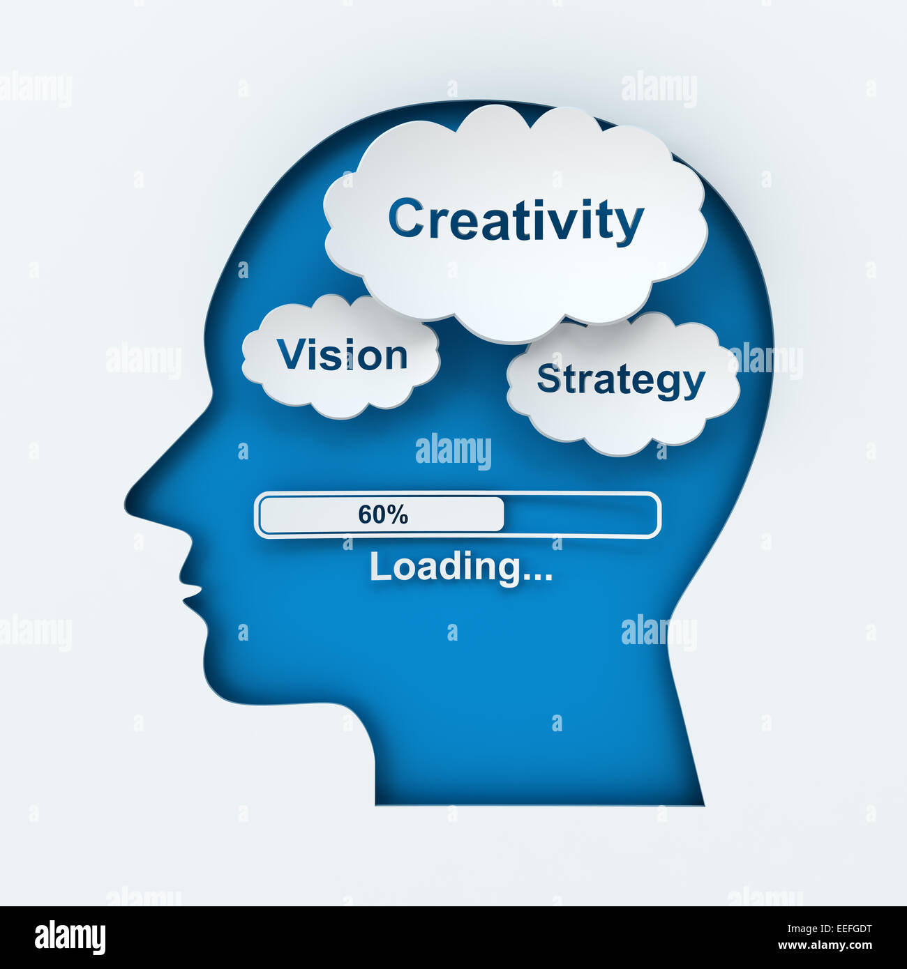 Loading creativity, vision and strategy - Stock Image