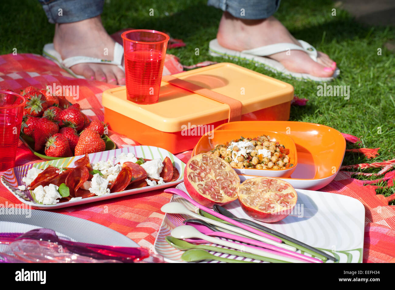 Outdoor picnic - Stock Image