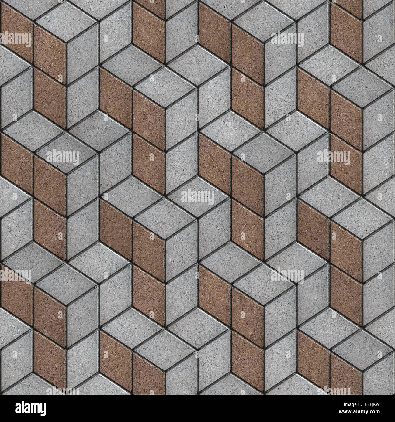Pavement Of Brown And Gray Tiles Seamless Texture Stock Photo Alamy