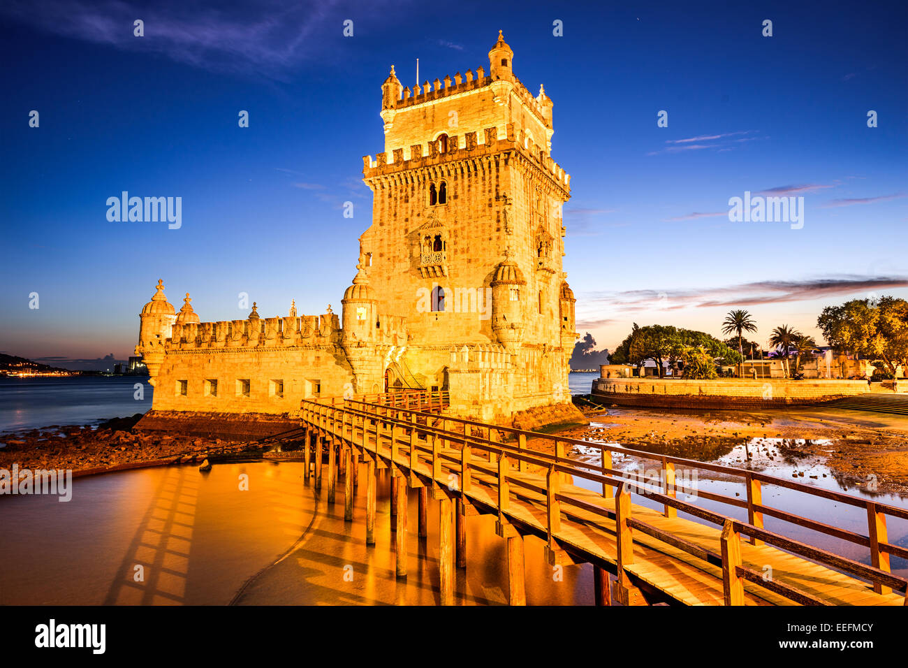 BelemTower of St. Vincent in the civil parish of Santa Maria de Belem in the municipality of Lisbon, Portugal. - Stock Image
