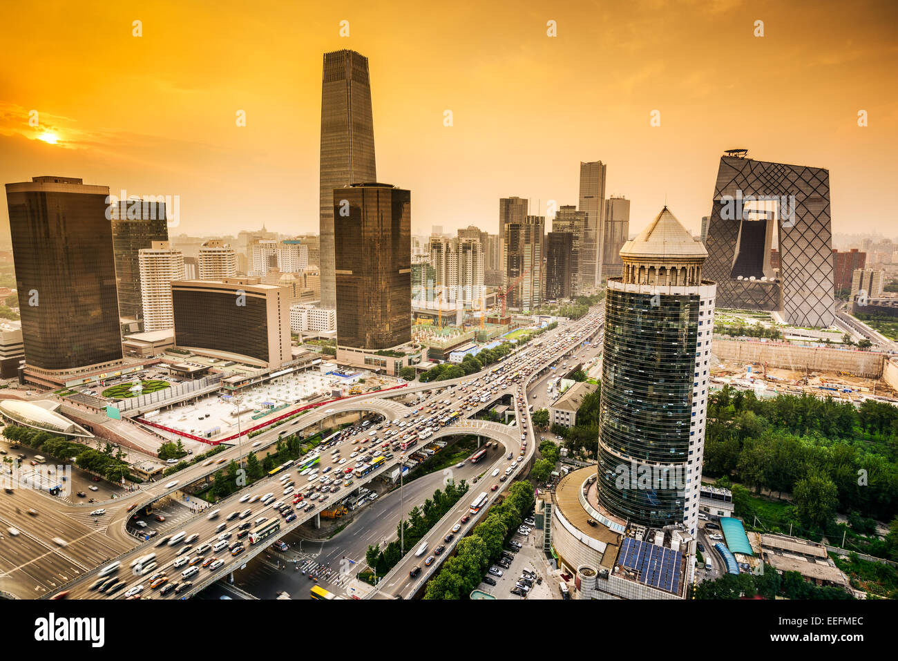 Beijing, China Financial District city skyline. - Stock Image