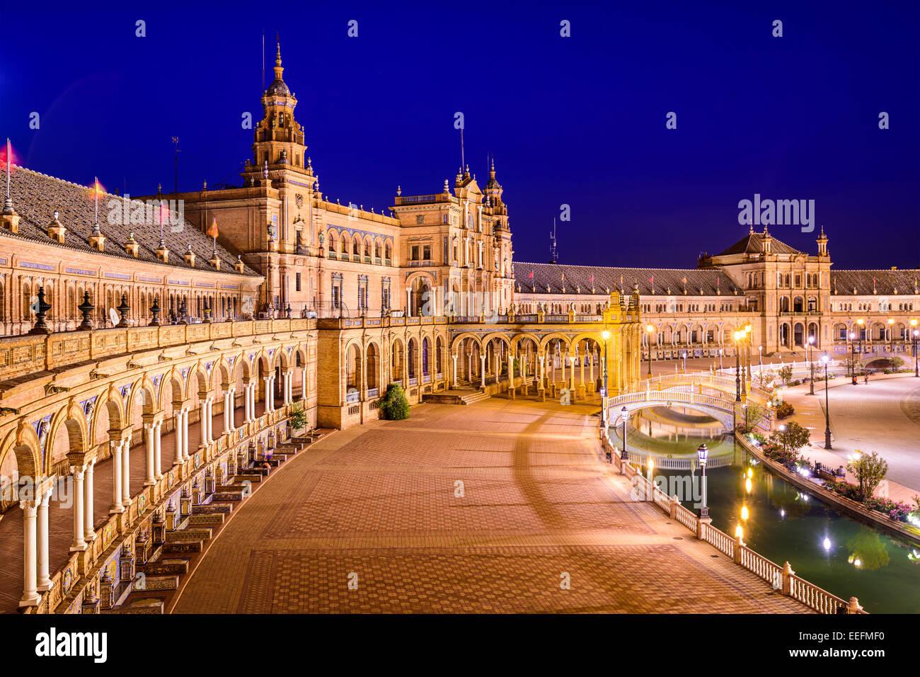 Seville, Spain in Spanish Square. - Stock Image