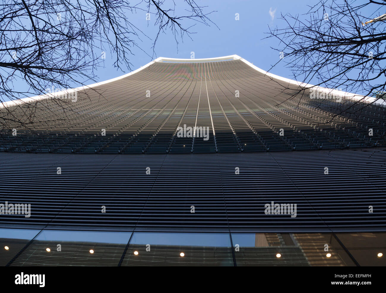 20 Fenchurch Street known as the 'Walkie Talkie' in the heart of the City of London - Stock Image