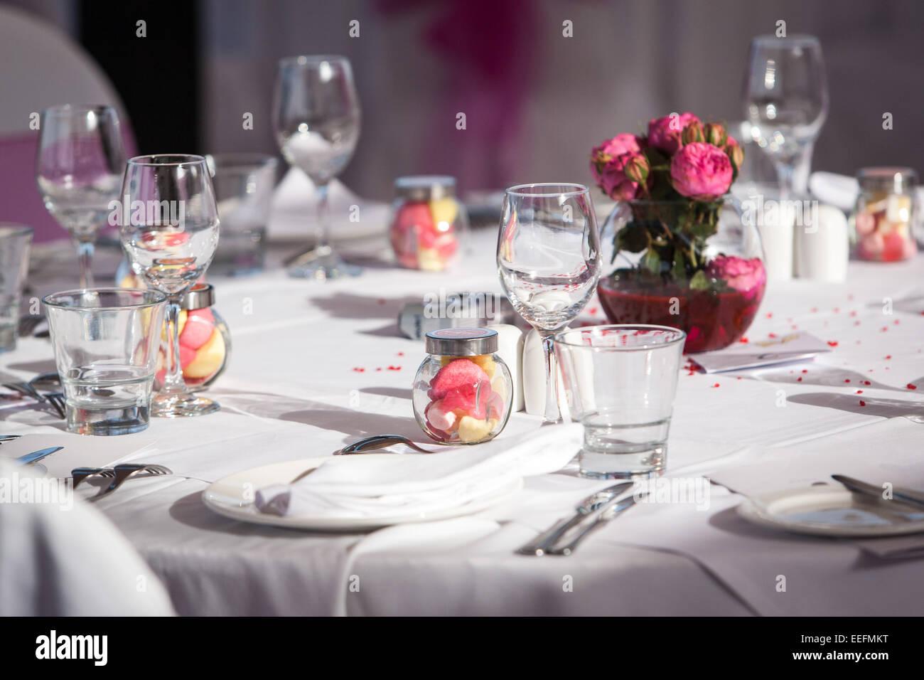 Wedding reception decoration and table setup Stock Photo: 77792172 ...