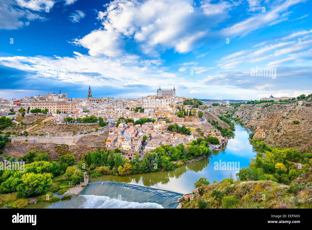 Toledo, Spain old town city skyline. Stock Photo