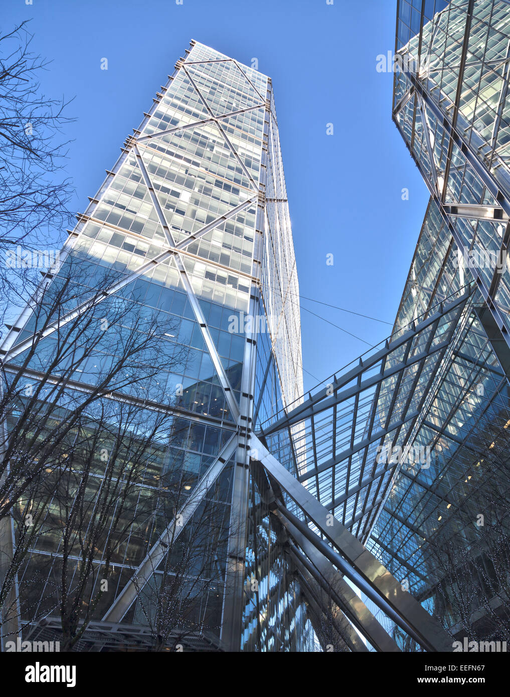 Broadgate Tower, developed by British Land - Stock Image